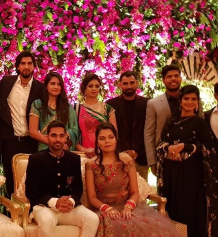 Indian pacers at Bhuvneshwar's reception | Instagram