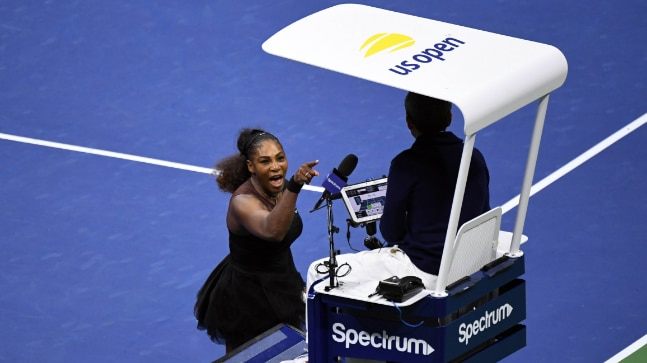 Serena Williams had heated arguments with the chair umpire during the match