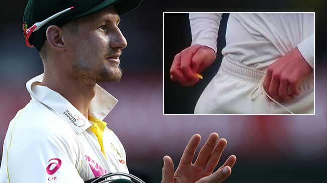 SA v AUS 2018: Australia's Cameron Bancroft caught on camera tampering the ball using a foreign object