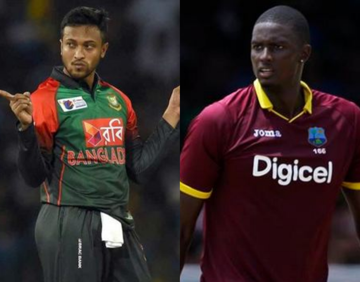 Shakib Al Hasan and Jason Holder are the two all-rounders in the XI