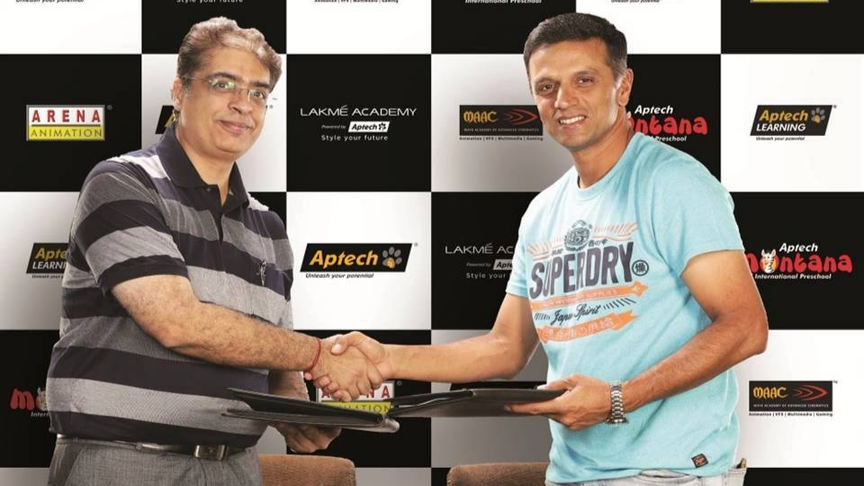Aptech Ltd named Rahul Dravid as Global Brand Ambassador