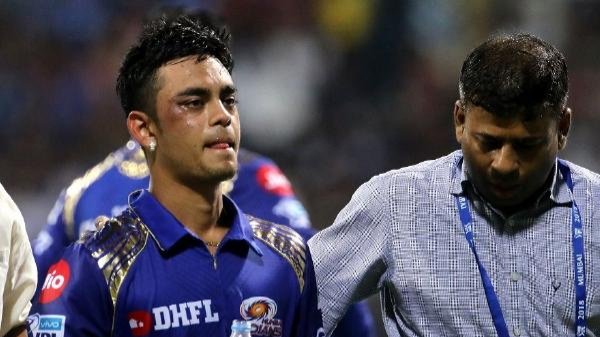 IPL 2018: Ishan Kishan sustains a freak injury after Hardik Pandya's throw hits his face