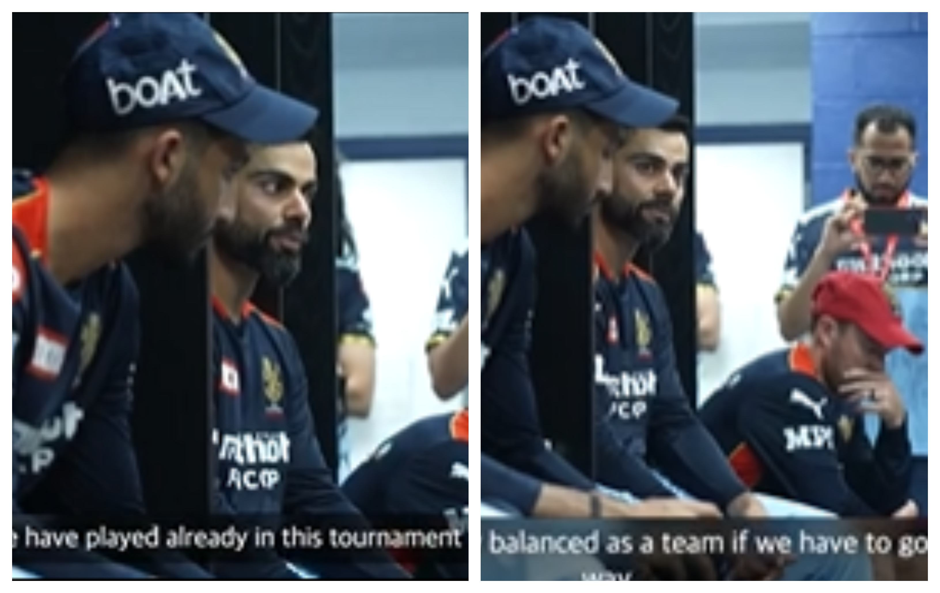 Virat Kohli addressing his RCB teammates | Screengrab
