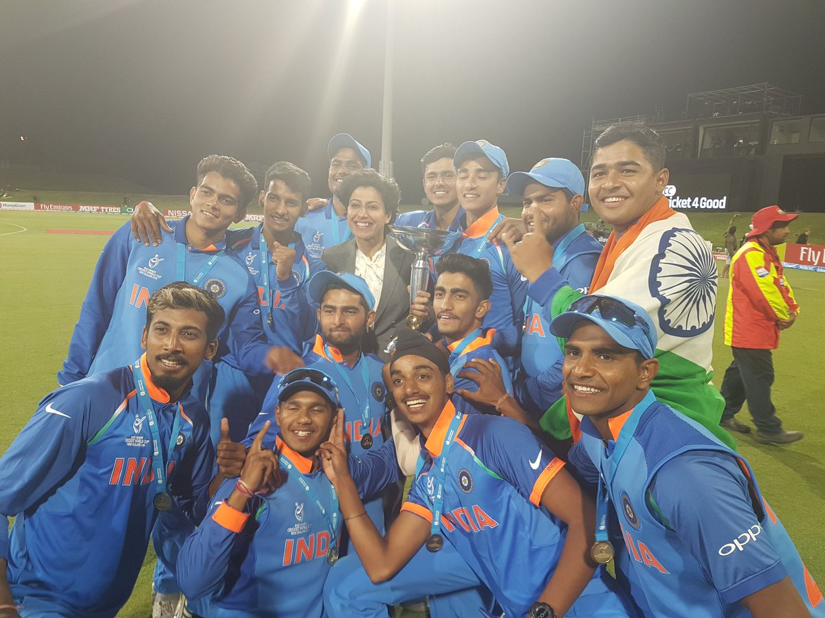 Watch – India U-19 boys celebrate their World Cup triumph with dhol and drums
