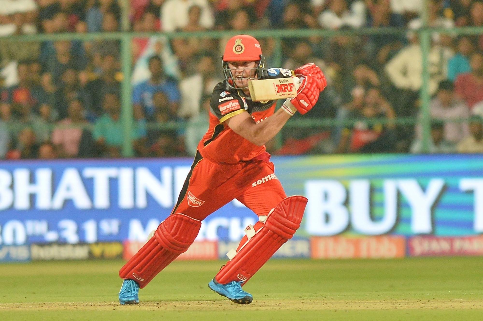 AB de Villiers played a brilliant knock of 70* runs off 41 balls against Mumbai Indians (photo - IANS)