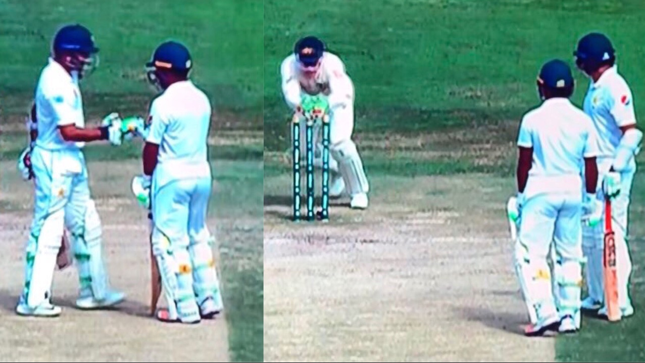 WATCH: Pakistan's Azhar Ali gets comically runout; as he thinks ball has gone for four and has mid pitch convo