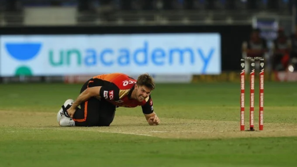 Mitchell Marsh injured his right ankle in Dubai | Twitter