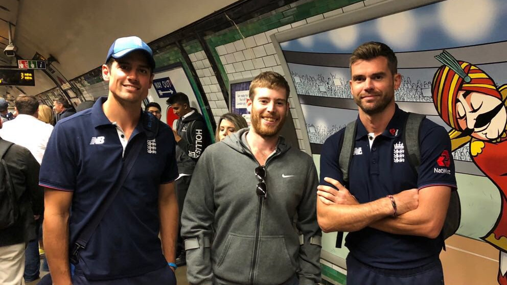 Alastair Cook takes the underground train, the Tube to the Oval to play his last Test