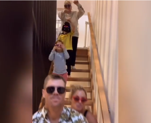 Warner with his family in the latest TikTok video | Instagram