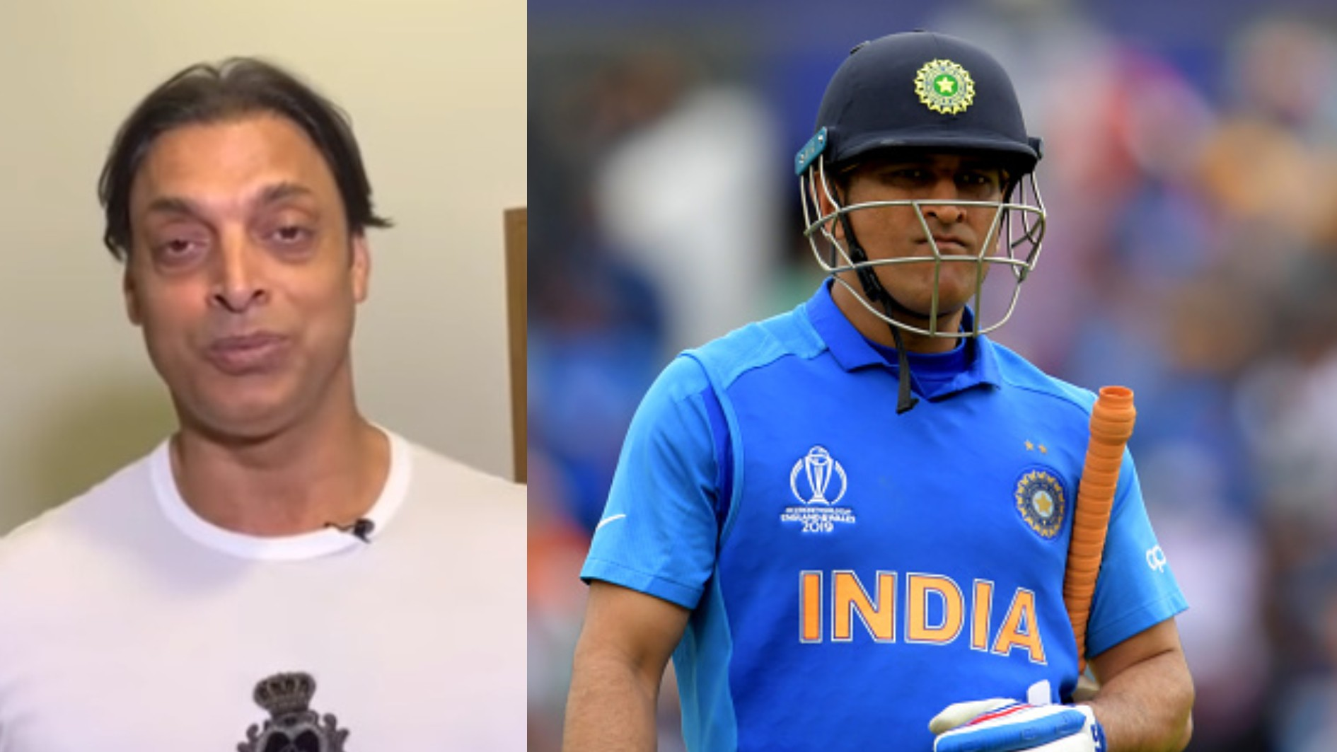 "CWC 2019: WATCH- Shoaib Akhtar says, ""MS Dhoni, you are an absolute legend"""