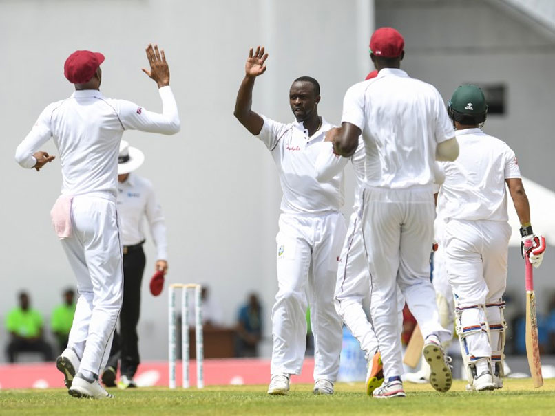 Kemar Roach restricted Bangladesh in the first innings | Source AFP