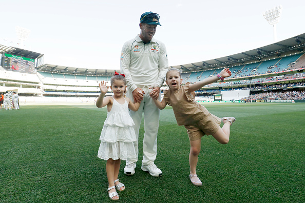 David Warner with his daughters | GETTY