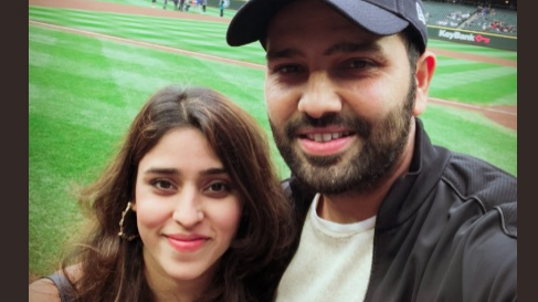 WATCH: Rohit Sharma becomes first Indian cricketer to throw the ceremonial 'First pitch' in a MLB game