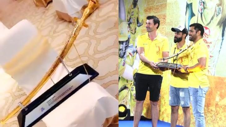 IPL 2020: WATCH - Ravindra Jadeja thanks CSK for gifting him a special sword memento