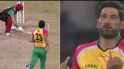 WATCH: Sohail Tanvir shows middle finger in his send-off to Ben Cutting