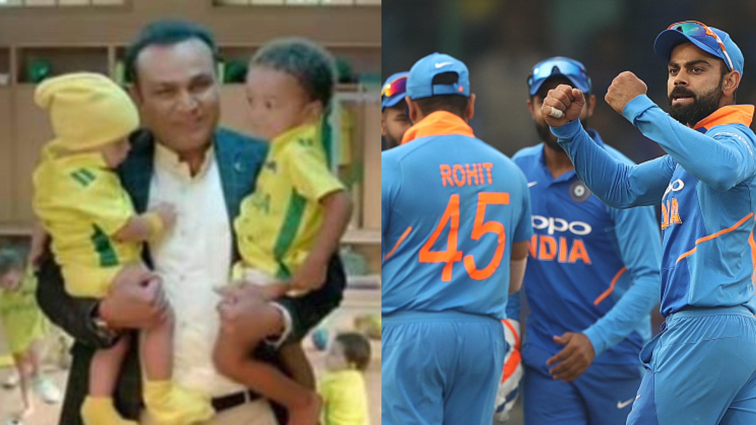 टीम इंडिया की हार के बाद वीरेंद्र सहवाग के बेबी-सिटिंग वाले विज्ञापन का जमकर उड़ा मज़ाक
