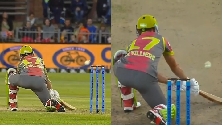 MSL 2019: WATCH- AB de Villiers shows why he is called 'Mr 360' with an astounding shot