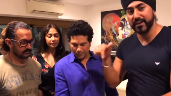 WATCH: Sachin Tendulkar and Aamir Khan awestruck by magician Magic Singh's tricks