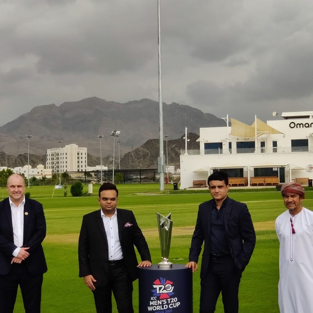 Sourav Ganguly and Jay Shah along with the officials of Oman Cricket | Twitter