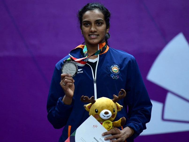 PV Sindhu with her 2018 Asian Games Silver in Badminton | Twitter