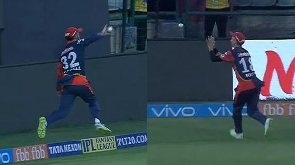 IPL 2018: Watch – Glenn Maxwell and Trent Boult combine to take brilliant catch on the boundary
