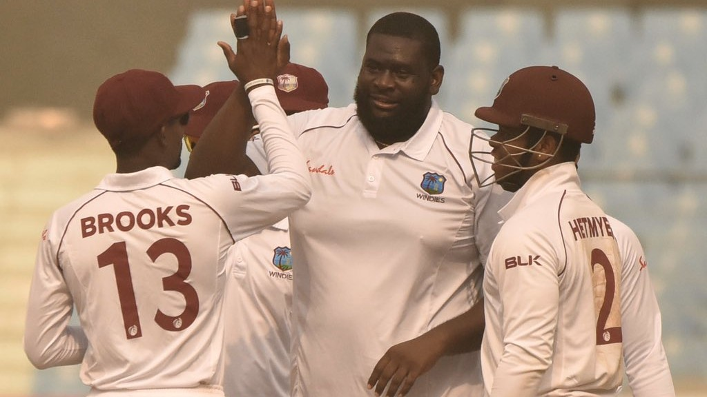 AFG v WI 2019: Day 1, Only Test- Rahkeem Cornwall's 7/75 restricts Afghanistan to 187; Windies make 68/2