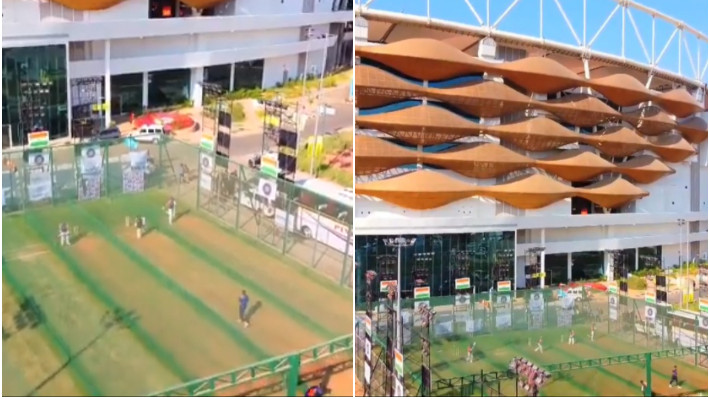 IND v ENG 2021: WATCH - BCCI shares aerial view of Team India's net session at Motera stadium