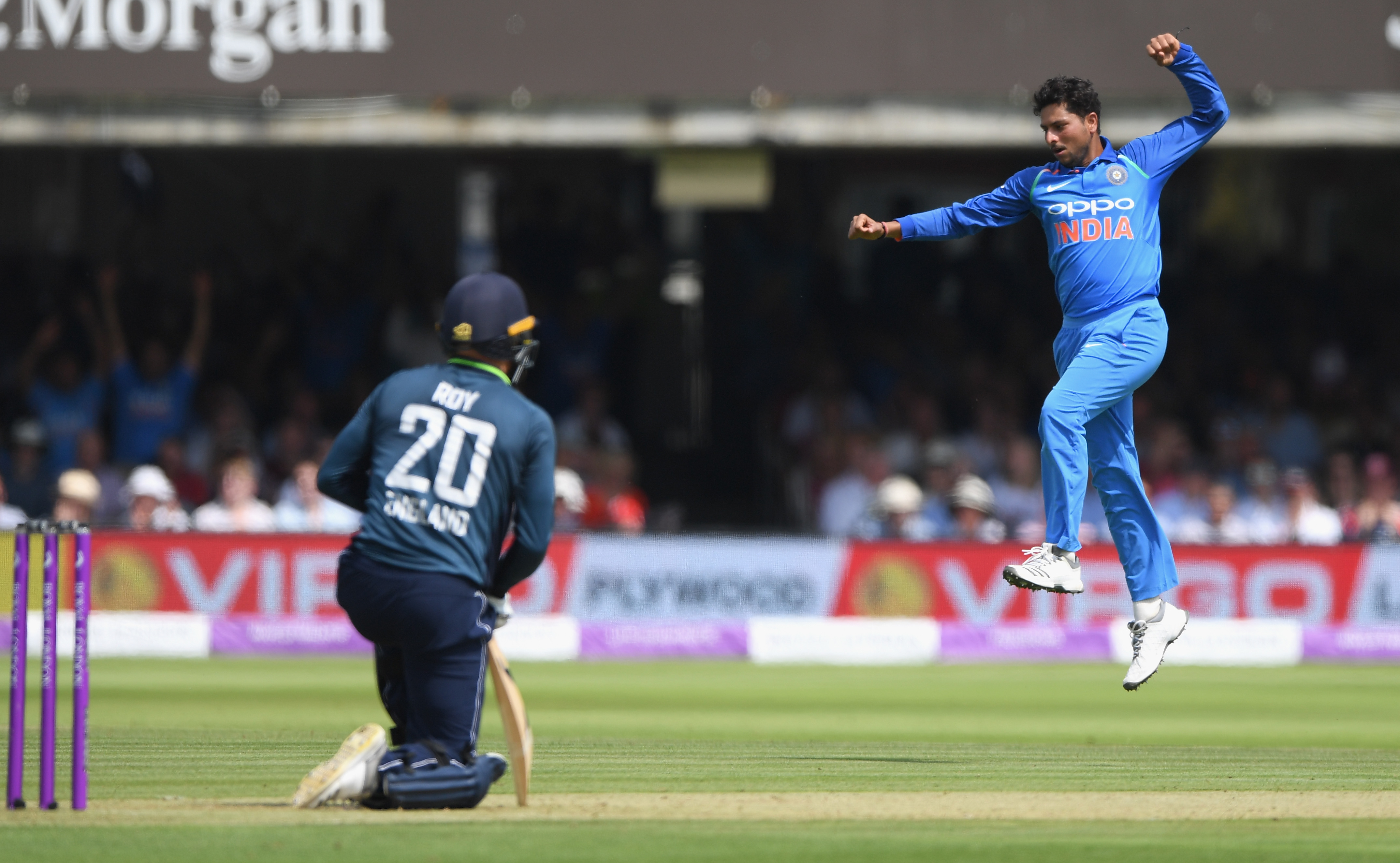 Kuldeep Yadav claimed 3 for 68 in his 10 overs at Lord's | Getty