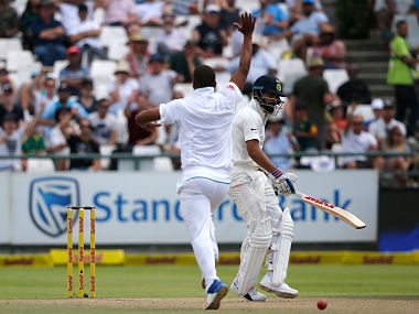 Philander celebrates Kohli's wicket in the second innings of Cape Town Test | AFP