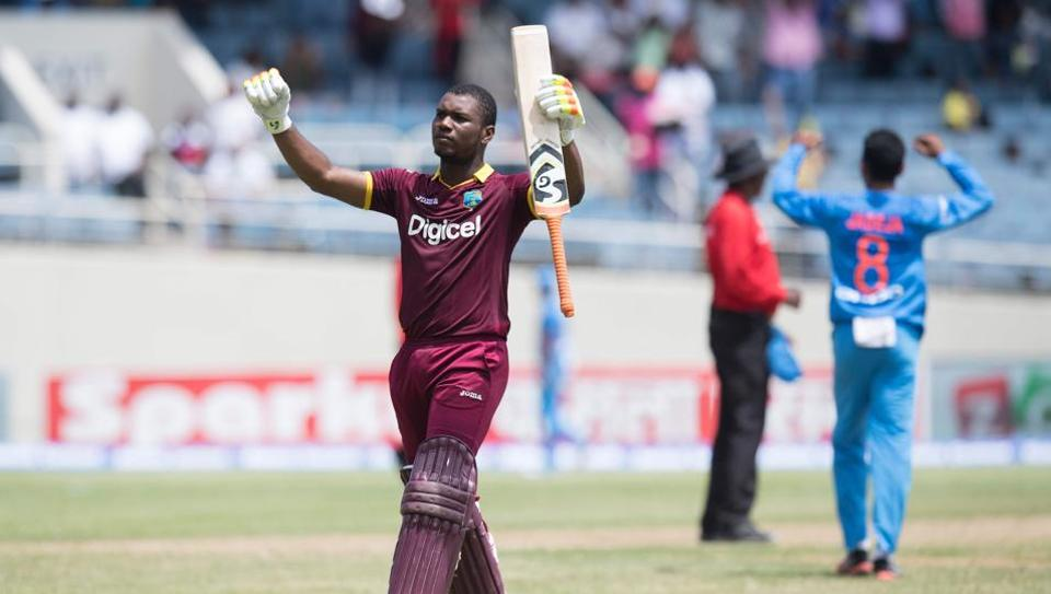 Evin Lewis has a T20I ton against India. (HT Media)