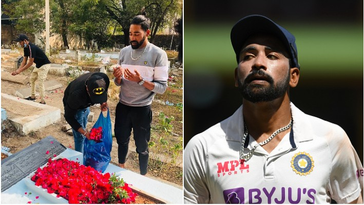 Mohammed Siraj drives to his father's grave before going home after returning from Australia