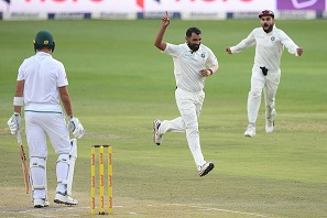 Mohd Shami took 5/28 to win the match for India | Getty