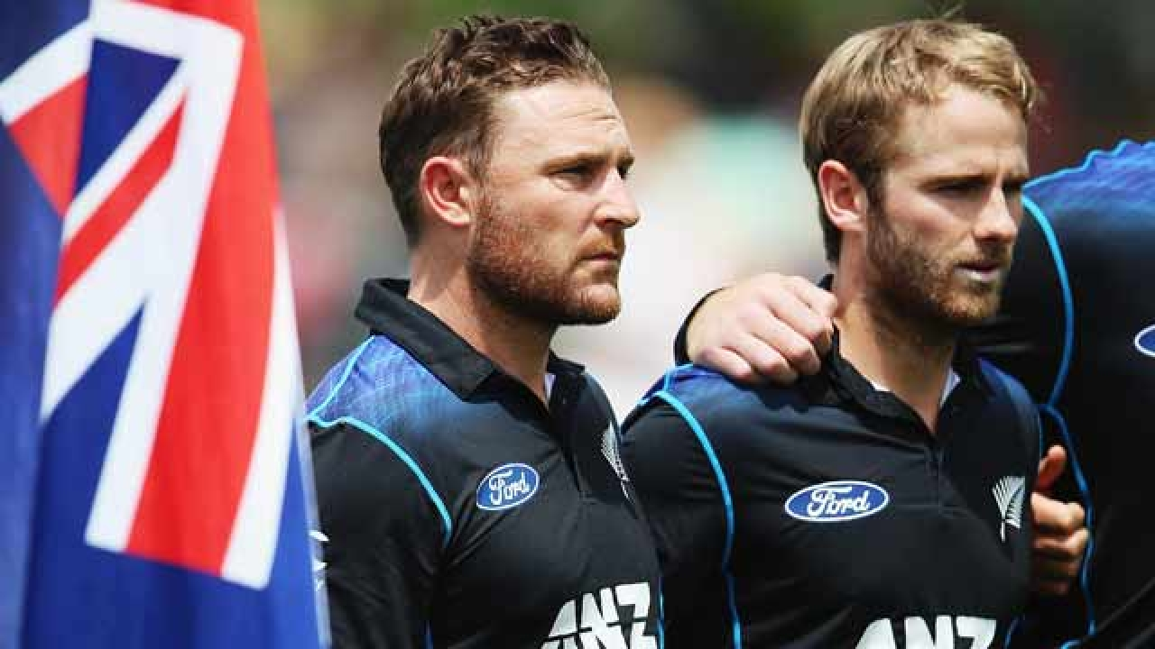 Brendon McCullum and Kane Williamson during World Cup 2015 | Getty