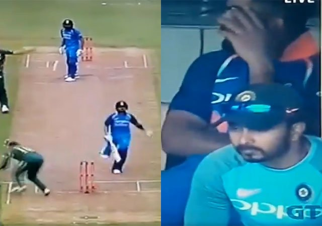 Rohit and Kohli's 105-run stand ended by a run-out   Twitter