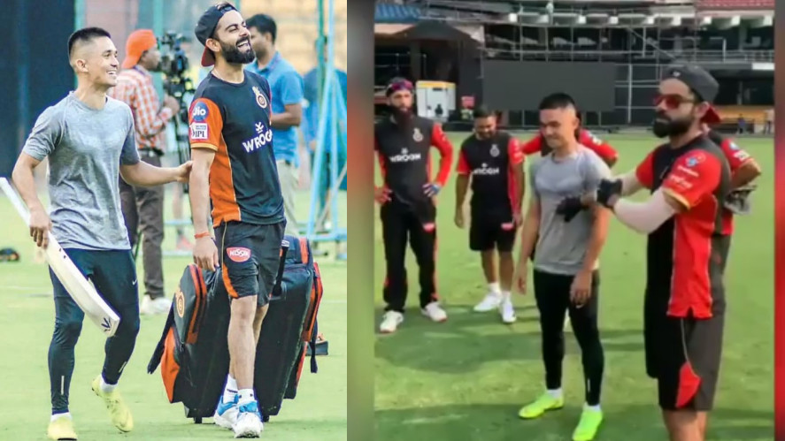 IPL 2019: WATCH- Virat Kohli calls Sunil Chhetri 'top guy', as the footballer visits RCB practice session