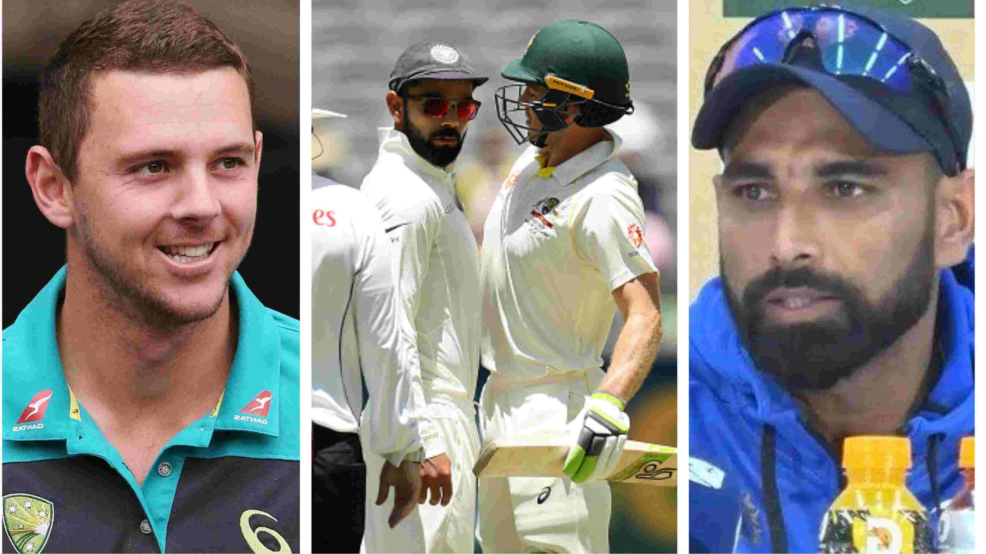 AUS v IND 2018-19: Hazlewood and Shami express their thoughts on Kohli-Paine verbal battle