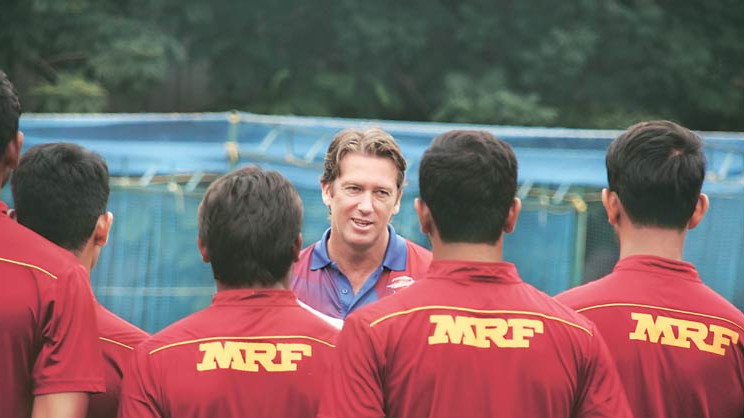 I have enjoyed working with the young Indian bowlers: Glenn McGrath
