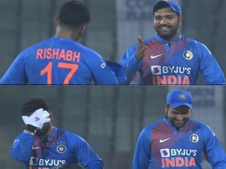 Rohit Sharma reacts after Rishabh Pant made the mess with DRS calls in Delhi T20I | Twitter