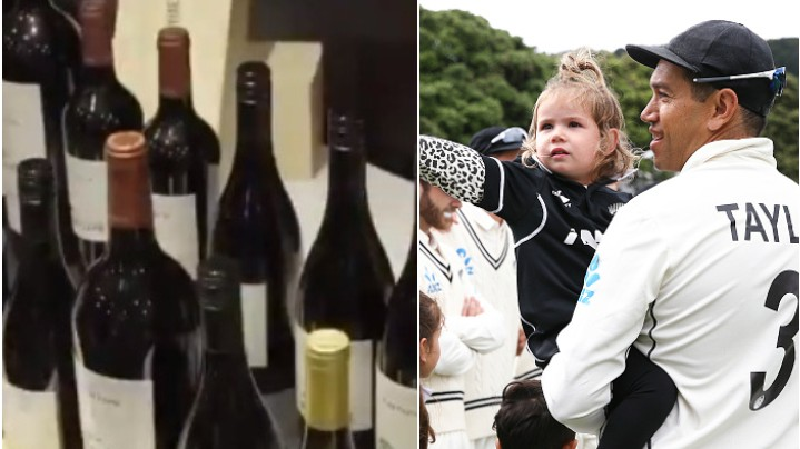 NZ v IND 2020: Ross Taylor felicitated with 100 bottles of wine on the occasion of his 100th Test