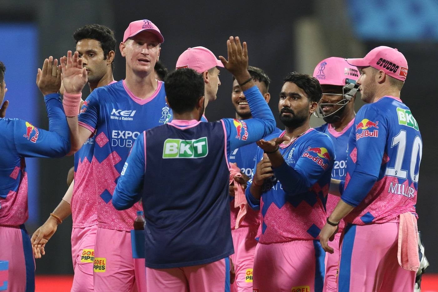 RR are placed 7th on IPL 2021 points table | BCCI-IPL