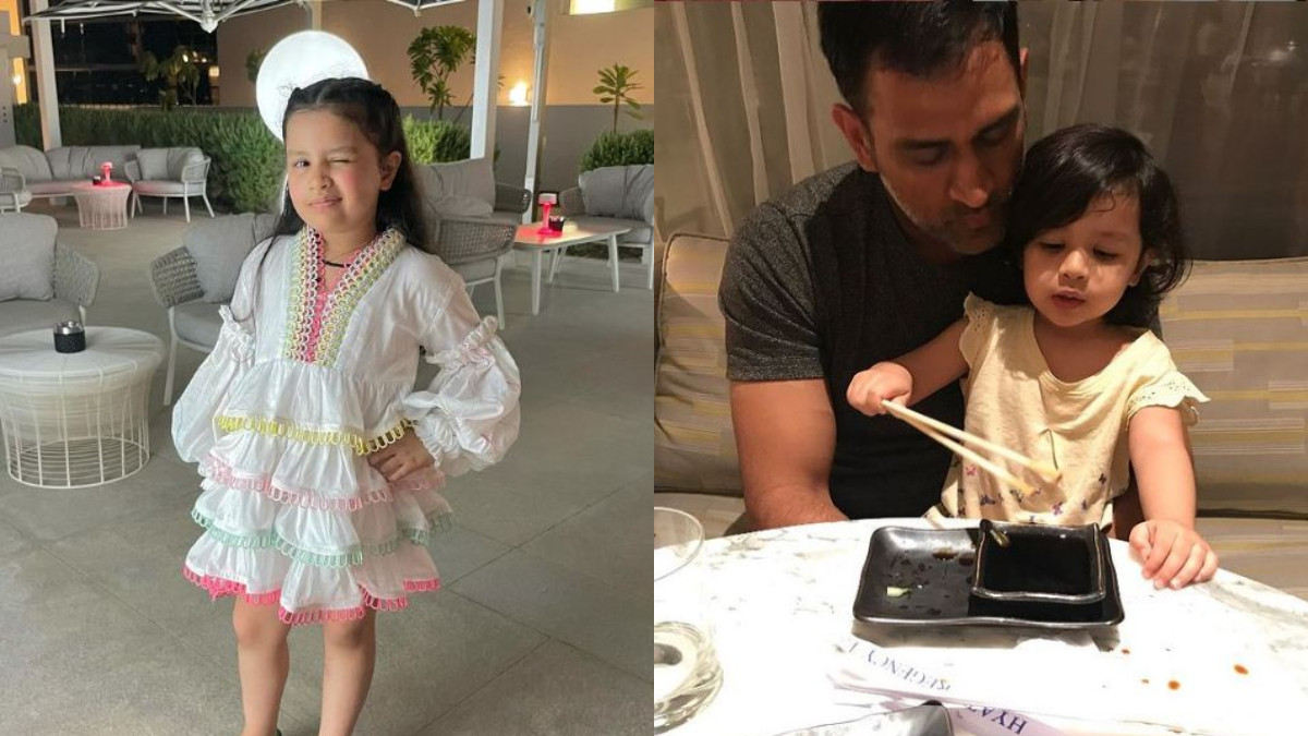 PICS- MS Dhoni's daughter Ziva's new super cute style wins Internet; Sakshi says
