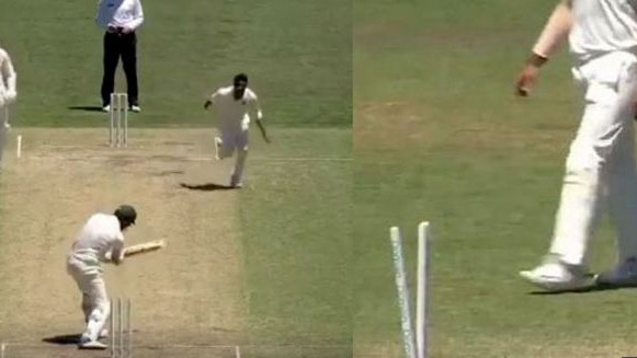 AUS v IND 2018-19: WATCH – Jasprit Bumrah's toe crusher leaves Jackson Coleman stunned