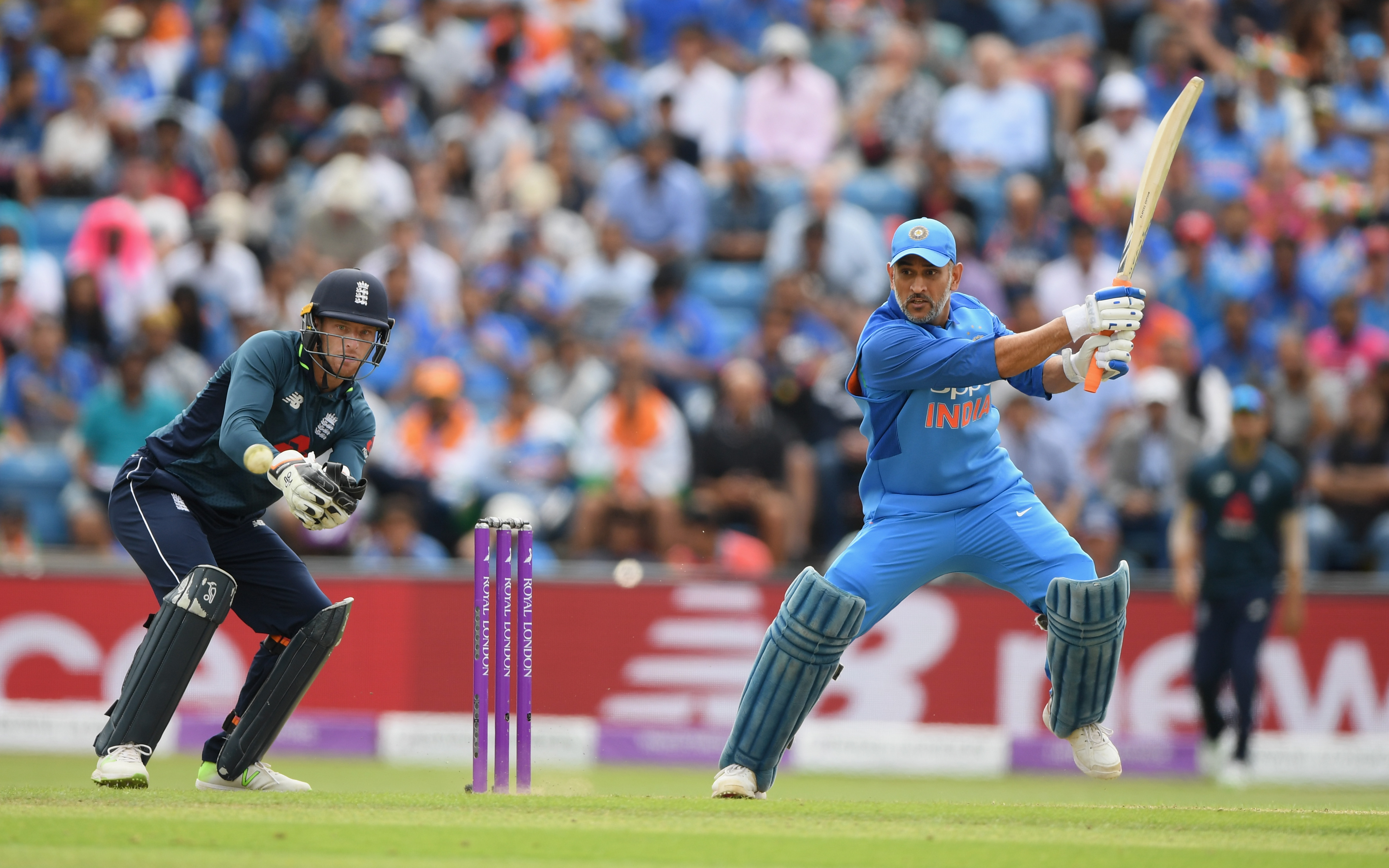 MS Dhoni in action during the recently held limited-overs series against England | Getty