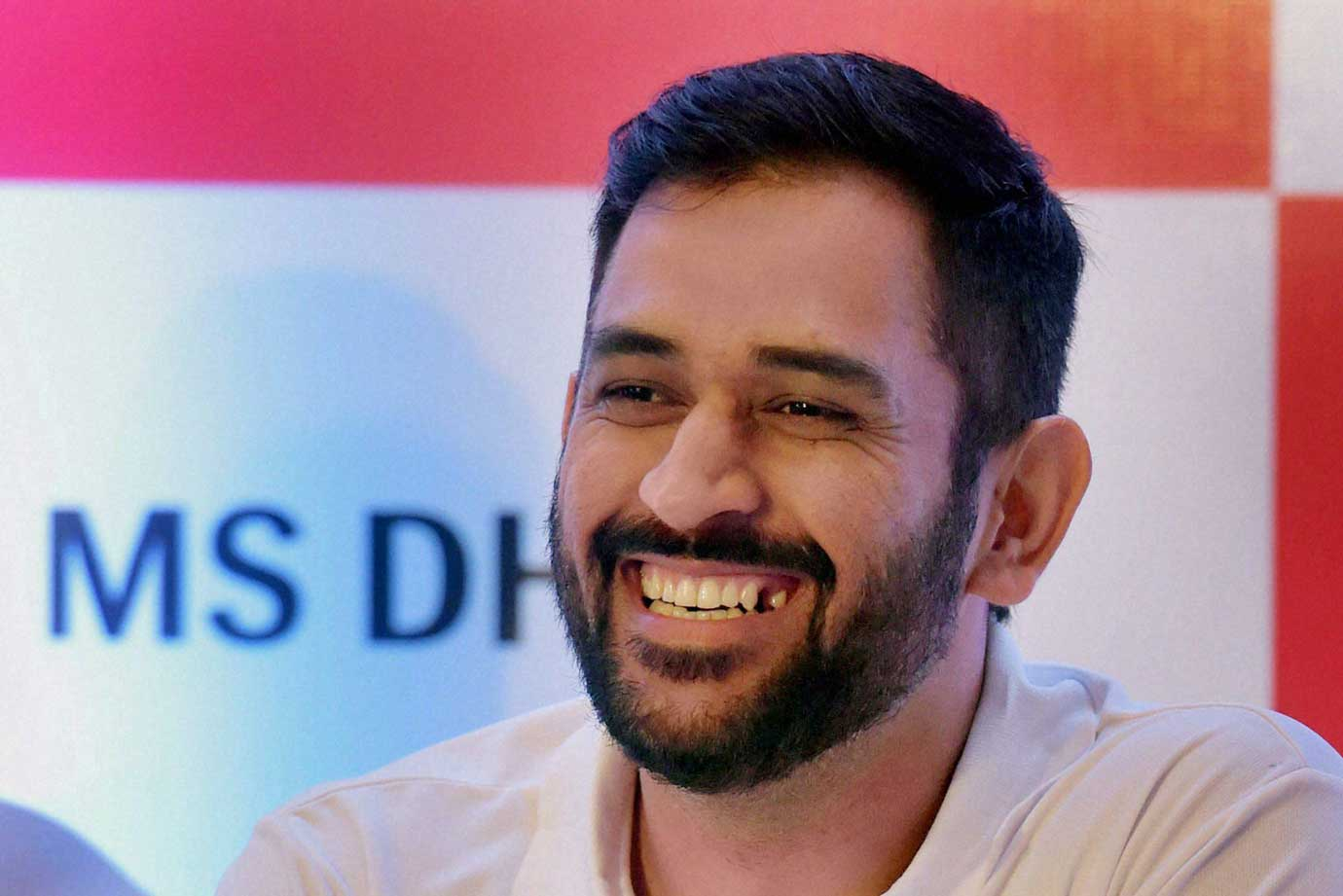 MS Dhoni is always smiles