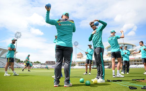 Australian players during net session | Getty Images