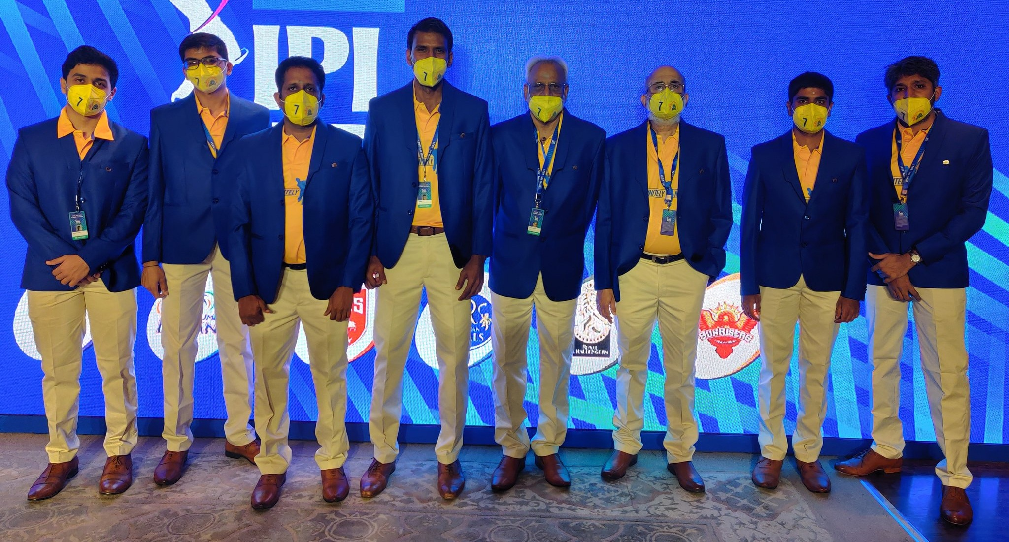 CSK management and officials are seen in special attire at the auction | CSK Twitter