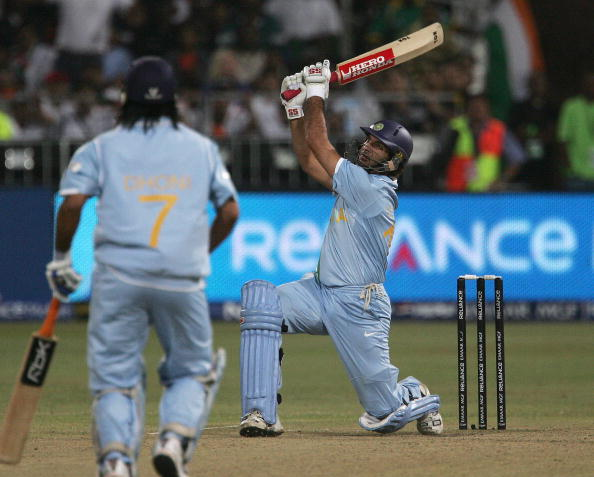 Yuvraj Singh took Stuart Broad to the cleaners during the 2007 ICC WT20   Getty