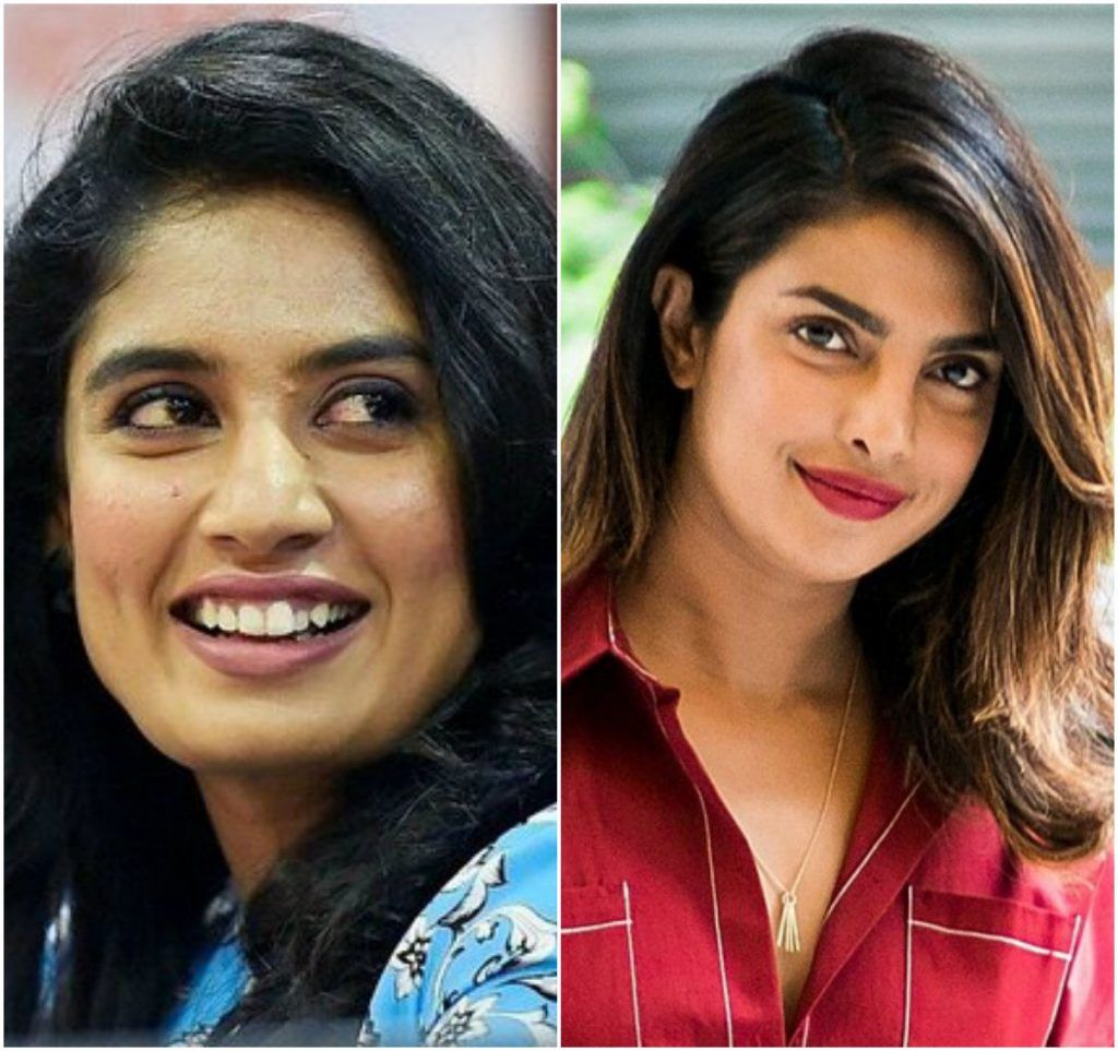 Mithali Raj and Priyanka Chopra | Source Bollywood Life