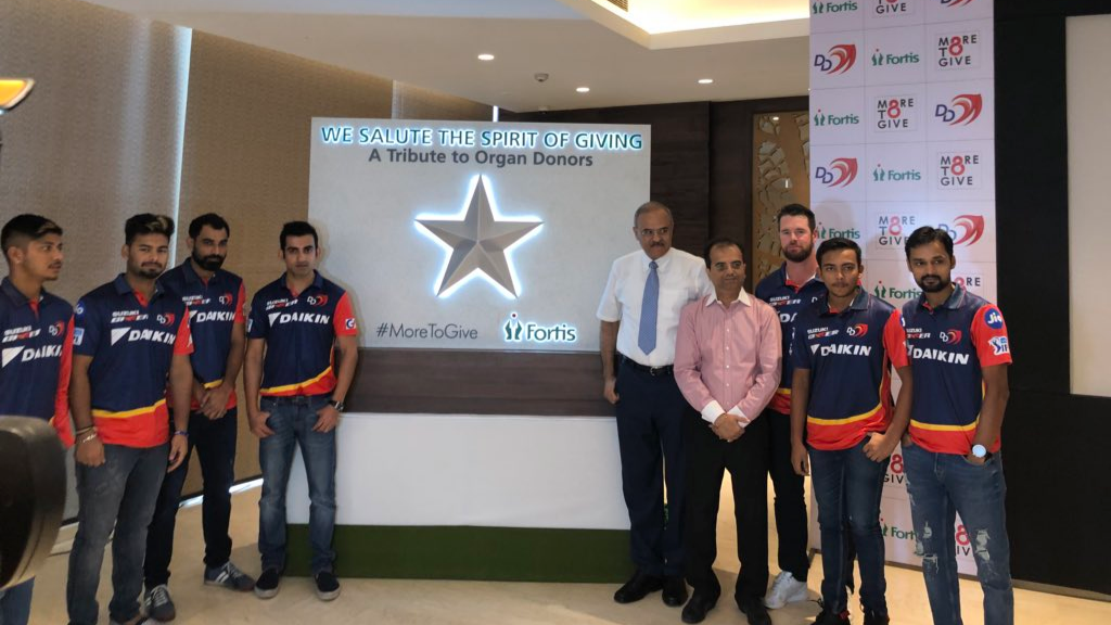 IPL 2018: Delhi Daredevils wins millions of hearts by pledging to donate their organs