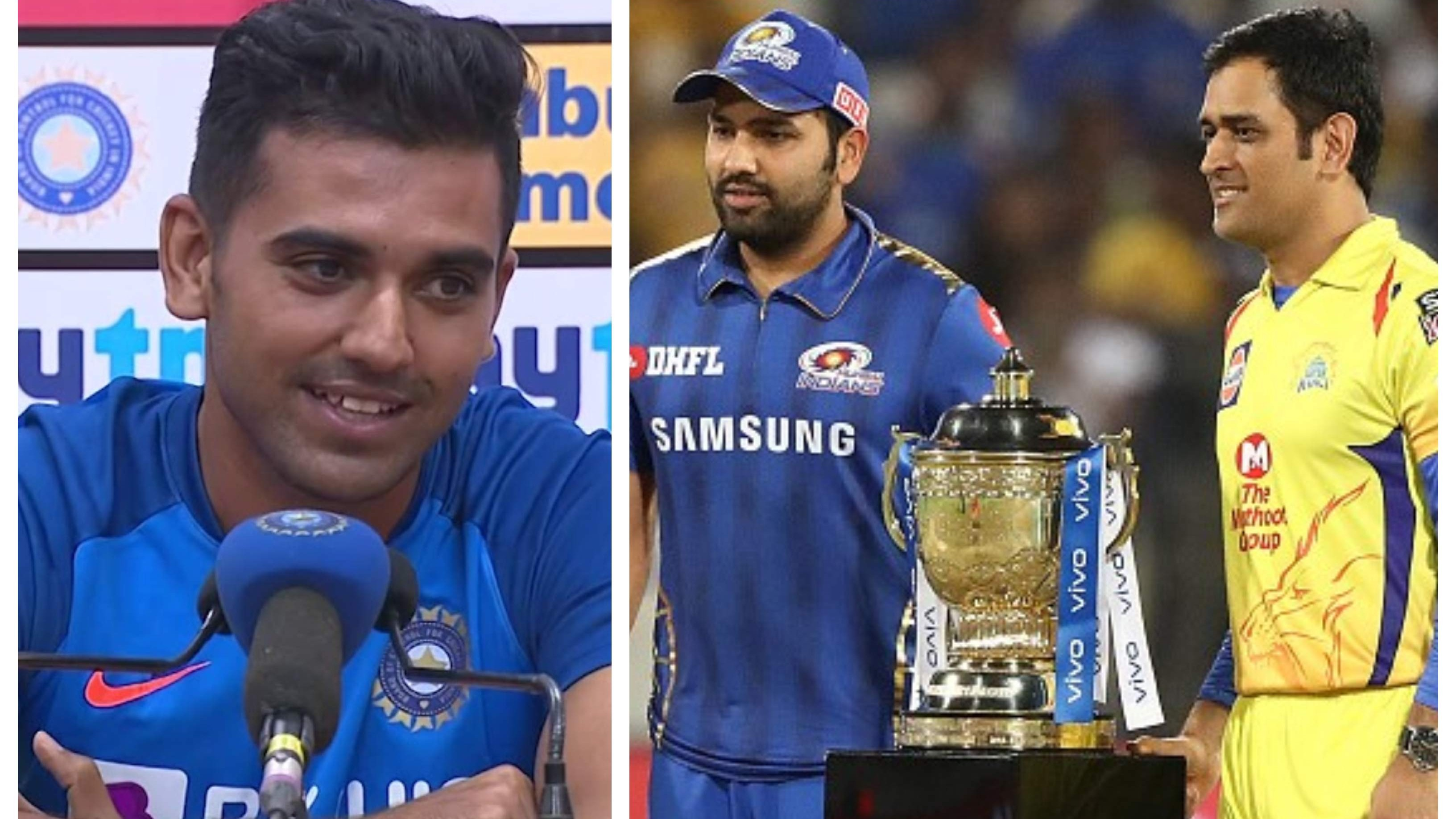 Deepak Chahar highlights similarities between MS Dhoni and Rohit Sharma as captains